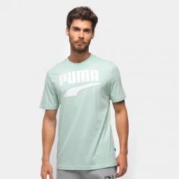 Camiseta Puma Rebel bold tee Masculina - verde água
