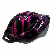 Capacete Especial para Ciclismo - Preto com rosa - Acte Sports