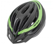 Capacete Poker Bike Out Mold Adulto - Preto / Verde