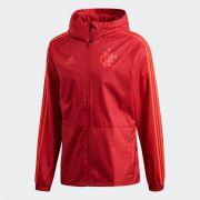 Casaco Flamengo Adidas Impermeável Rain - Vermelho