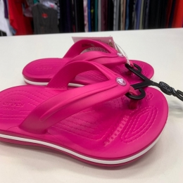 Chinelo Crocs Infantil Crocband Flip - Candy Pink