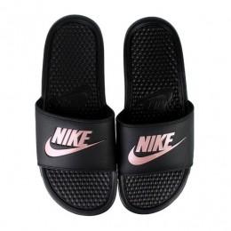 Chinelo Nike Benassi JDI Preto/Ouro Rosa