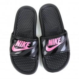 Chinelo Sandália Nike Benassi Slide - Preto/Rosa