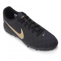Chuteira Society Nike Beco 2 TF - Preto e Dourado