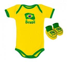 Body Infantil Brasil Torcida Baby - Unissex
