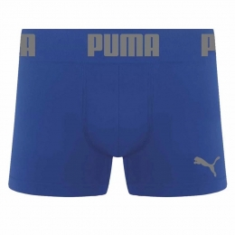 Cueca Puma Long Boxer Sem Costura - Azul Royal