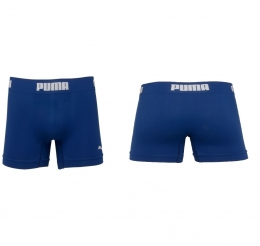 Cueca Puma Long Boxer Sem Costura - Azul Marinho escuro