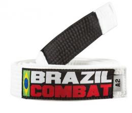 Faixa Especial Brazil combat Branca com Ponta - Adulto - A5
