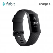 Fitbit Charge 3 Monitor Cardiaco Sono Large Small - BLACK - ORIGINAL