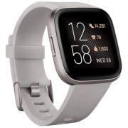 Fitbit Versa 2 Health & Fitness Smartwatch small and large (FB507BKBK) - Cinza - ORIGINAL