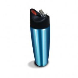Garrafa Squeeze Em Aço Azul 900ml - Acte - C17