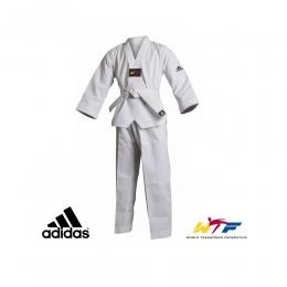 Kimono Adidas Dobok Adi-start Taekwondo - Gola Branca