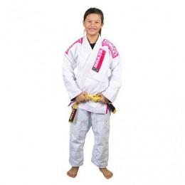 Kimono Infantil Xtra-Lite Branco/Rosa - Brazil combate