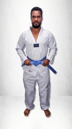 Kimono Taekwondo Olympic Torah Adulto Gola Branca A5