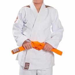 Kimono Tradicional Judô Trançado Branco Infantil - Haganah