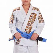 Kimono Trançado Infantil Light Jiu Jitsu Haganah - Branco