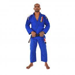 Kimono Trançado Xtra-Lite Brazil Combat - Azul