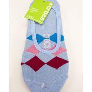 Kit c\3 Meia Crocs Invisível Azul\Rosa- Original - 34-38