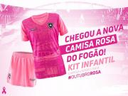 KIT Infantil Oficial Botafogo Outubro Rosa 2018 - Original
