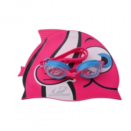 Kit Infantil Touca Óculos Hammerhead Fun Set - Rosa