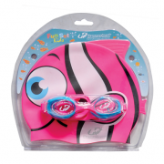 Kit Infantil Touca Óculos Hammerhead Fun Set - Rosa