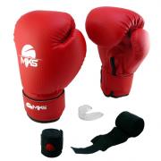 Kit Luva + Bandagem + Protetor Bucal Mks - Vermelha
