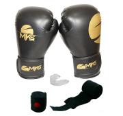 Kit Luva Champion Gold + Bandagem + Protetor Bucal Mks
