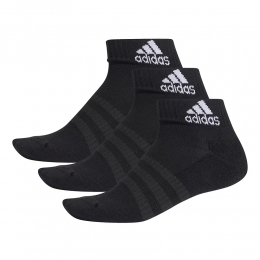 Kit Meia Adidas Cano Curto Ankle Mid Cushion preto