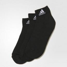 Kit Meia Cano Curto Adidas Ankle Mid Cushion preto