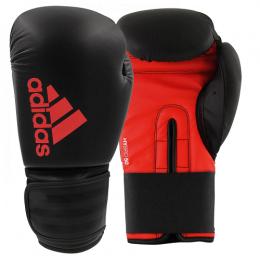Luva Adidas Boxe/Muay Thai adidas Hybrid 50 - vermelho/Preta