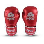Luva Boxe Energy Metalizada Mks - Vermelho