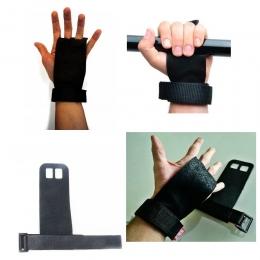 Luva de Crossfit Couro Kit Fit Preto - Hand grip