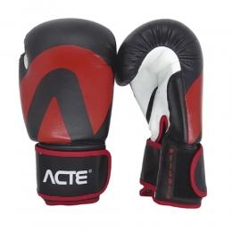 Luvas de Boxe Acte - Fight - Preta e Vermelha