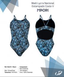 Maiô Hammerhead Lycra Nacional Aberto - Azul