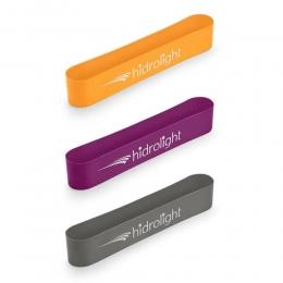 Mini Band Kit 3 peças Hidrolight FL35 - Laranja, Lilás e Cinza