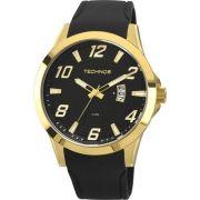 Relógio Technos dourado Pulseira Couro Qz - Tech Ref.: 18092272