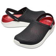 Sandália Crocs Literide Clog - Black / White