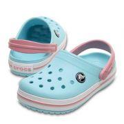 Sandália Crocs Crocband Infantil Ice Blue / White