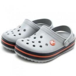 Sandália Crocs Crocband Infantil Light Grey