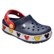 Sandália Crocs Infantil Mickey Mouse FunLab Lights - Navy