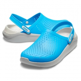 Sandália Crocs LiteRide Clog - Azul Claro / Cinza