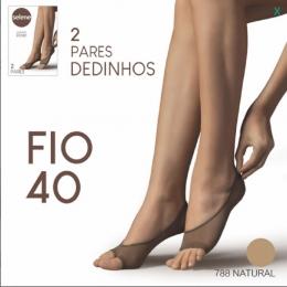 Meia sapatilha Selene dedinho - 40 Fio - 2 pares