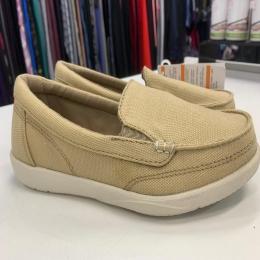 Sapato Crocs Walu Ii Canvas Loafer Feminino - Khaki