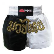 Short Muay Thai Mks Branco e Preto