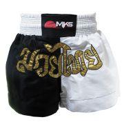 Shorts Muay Thai Mks Combat - Preto