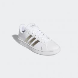Tênis Adidas Grand Court Base - branco/prata