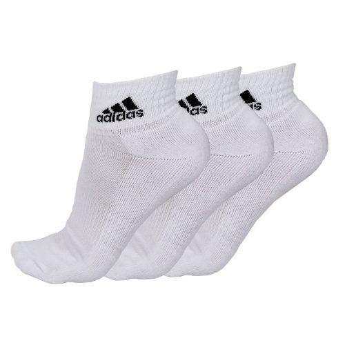 Kit Meia Cano Curto Adidas Ankle Mid Cushion - 35/38