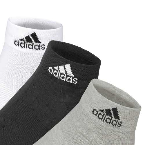 Kit Meia Cano Curto Adidas Ankle Mid Thin - 39/42