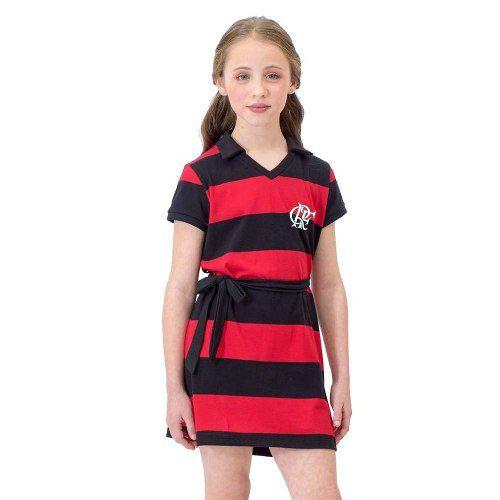 Vestido Milly Flamengo Infantil - Braziline