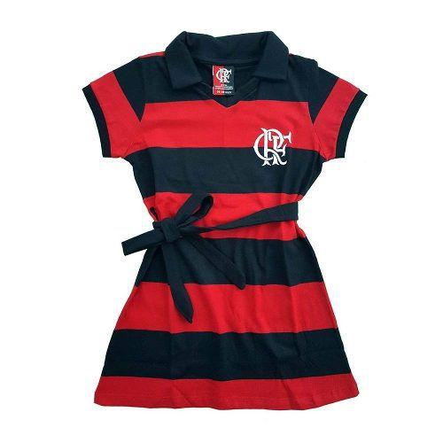 32dd986532a15 Vestido Milly Flamengo Infantil - Braziline - Titanes Esportes
